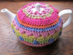 Knit or Crochet Mug Hug Snugs, Tea Cozy/Cosy/Cosies! And other wraps for food items crochet