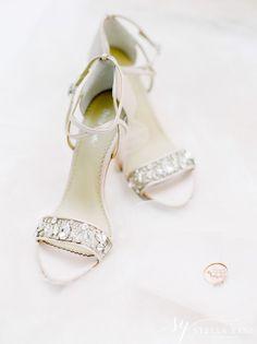 White open-toe shoes