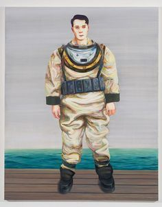 Nicole Eisenman, Deep Sea Diver, Oil on canvas, 82 x 65 inches. Courtesy the artist and Susanne Vielmetter Los Angeles Projects. Institute Of Contemporary Art, Contemporary Art Daily, Contemporary Paintings, Deep Sea Diver, San Francisco Museums, New Museum, Whitney Museum, New York, Art History