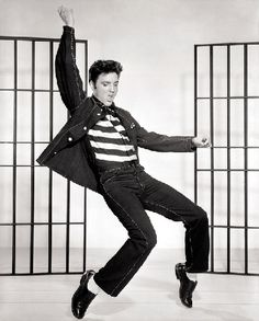 Elvis Presley in a publicity photograph for the 1957 film Jailhouse Rock.The King of Rock and Roll, icon. Rockabilly, Rock And Roll, Graceland, Lisa Marie Presley, Priscilla Presley, Michael Jackson, Music Rock, Rock Poster, Jazz Poster