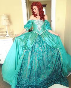 Princess Ball Gowns, Disney Princess Dresses, Disney Dresses, Ariel Costumes, Princess Costumes, Cosplay Costumes, Ariel Cosplay, Disney Cosplay, Epic Cosplay