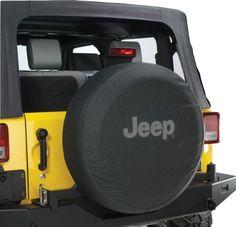 Jeep Wrangler Black Denim W/ Logo Spare Tire Cover 32-33 Inch Mopar Oem, 2015 Amazon Top Rated Tire Accessories & Parts #AutomotivePartsandAccessories