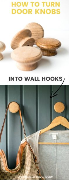 How To Turn Cabinet Door Knobs Into Wall Hooks - For Coats • Grillo Designs