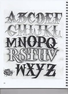 Tattoo Lettering Alphabet, Chicano Lettering, Graffiti Lettering Fonts, Graffiti Text, Graffiti Words, Graffiti Alphabet, Letter Stencils To Print, Tattoo Outline Drawing, Letras Tattoo