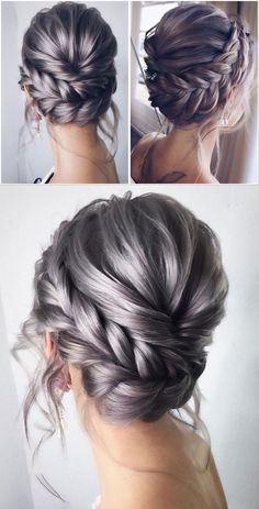 Whether you choose an updo or prefer to leave your hair down, there are tons of unique and beautiful hairstyles to consider for your big day. I've gathered over 200 charming wedding hairstyles… Braided Crown Hairstyles, Bride Hairstyles, Down Hairstyles, Twisted Updo, Bridal Hair Inspiration, Wedding Hair And Makeup, Hair Wedding, Bridesmaid Hair, Fine Hair