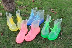 Colorful Clear Boots