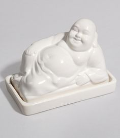 Buddha Butter Dish - Paula Deen would agree that butter is enlightening.  Not physically, obviously.