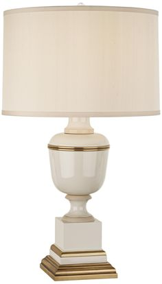 Mary McDonald Annika Cream Ivory and Brass Table Lamp | LampsPlus.com