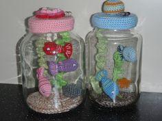 barattoli di vetro per acquario