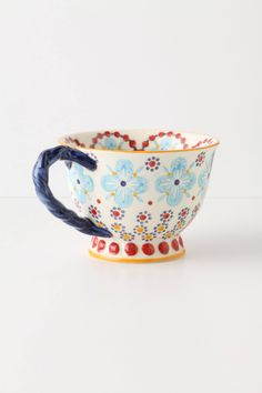 With A Twist Teacup by Anthropologie from Anthropologie. Saved to Epic Wishlist. My Coffee, Coffee Cups, Tea Cups, Anthropologie Mugs, Pottery Painting Designs, My Cup Of Tea, Mug Cup, High Tea, Clay Art