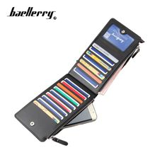 1942d6d693 baellerry Hot sell long men s wallet cross-pattern multi-functional purse  ultra-thin