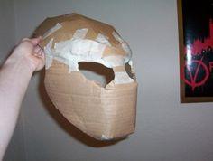How to Draw a Predator Mask | How to Make a Predator Costume