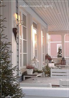 Terassi, talvinen koti, talvinen terassi, terassin sisustus talvella, erkkeri, Teri-Talo