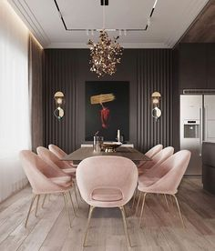 Beautiful, luxurious dining room design for luxurious living ideas # diningroom . - Beautiful, luxurious dining room design for luxurious living ideas # dining room design # luxu - Luxury Dining Room, Dining Room Design, Dining Room Modern, Modern Contemporary Living Room, Fancy Living Rooms, Gold Dining Rooms, Modern Living Room Decor, Dinning Room Art, Black And Gold Living Room
