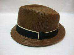 Mens Summer Fedora With 2 Tone Band Cuban Style Short Brim Hat Cap Affordable