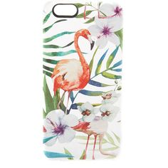 Casetify Tropical Flamingo iPhone 6 / 6s Case (160 BRL) ❤ liked on Polyvore featuring accessories, tech accessories, clear multi, clear iphone cases, iphone case, iphone cover case, iphone hard case and apple iphone cases