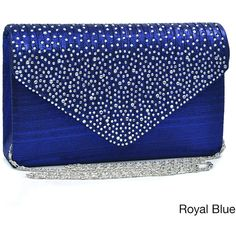 Dasein Rhinestone Frosted Evening Clutch Purse (82 QAR) ❤ liked on Polyvore featuring bags, handbags, clutches, purses, bolsa, rhinestone clutches, envelope clutch bag, blue envelope clutch, cell phone purse and evening handbags