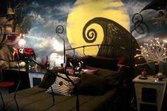 Nightmare before Christmas bedroom! Why didn't I think of this when I was a kid?!?!