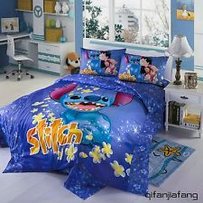 STUNNING DISNEY STITCH TWIN FULL QUEEN 7PC COMFORTER IN A BAG FREE SHIPPING