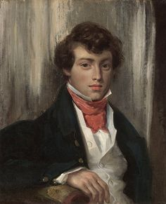 Eugène Delacroix, Portrait of Charles de Verninac, ca. 1826. Oil on canvas, 24 ¼ x 19 7/8 in. (61.6 x 50.5 cm). FAMSF