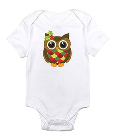 Loving this White Brown Holly Owl Bodysuit - Infant on #zulily! #zulilyfinds