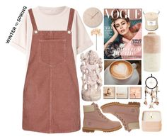 """""""Winter to Spring Layers"""" by amaliakumala ❤ liked on Polyvore featuring Brunello Cucinelli, Lemnos, Topshop, Timberland, Henri Bendel, WoodWick, Sia and Wintertospring"""