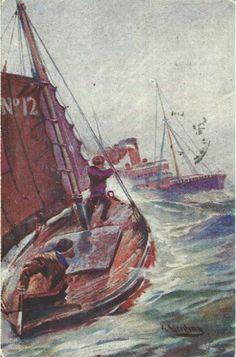Julekort Gerhard Gjerding brukt 1921 Utg Mittet