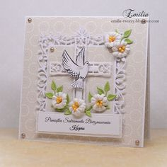 Kartka na bierzmowanie/Card for confirmation Invitation Cards, Invitations, Quilling Cards, Sympathy Cards, Cute Cards, Confirmation, Communion, Christening, Scrapbooking