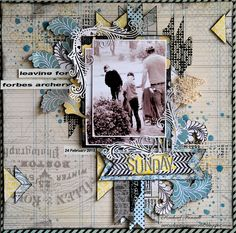 Scraps Of Darkness is sponsors for Once Upon A Sketch for March Challenge.. Guest Design layout Working with Scraps Of Darkness February -Waterways kit...