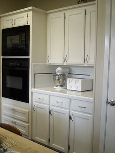 Fresh new refaced cabinets.