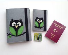 Baykuş Figürlü Pasaport&Kitap; Kılıfı Seti . 263860 | zet.com