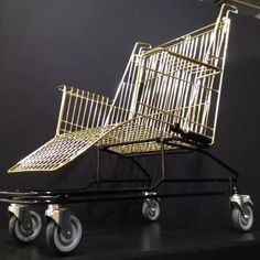 Kart chairs, recycled shopping carts
