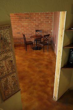 Acid Stain floor at Coffee Roasting Facility.