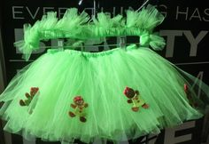 Girls Gingerbread Tutu  Neon Green Christmas Tutu  by TutuTuYa