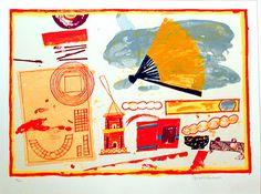 Elizabeth Blackadder, Still Life with pagoda, screenprint, 1998 Painting Still Life, Paintings I Love, Action Painting, Painting & Drawing, Blackadder, Cat Flowers, Painting Inspiration, Art Images, Printmaking