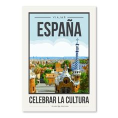 "East Urban Home Travel Poster Spain by Brooke Witt Graphic Art Size: 24"" H x 18"" W"