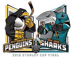 2016 Stanley Cup Final #penguins vs @SanJoseSharks #LetsGoPens #Sharks #Pens #NHL @NHLonNBCSports #StanleyCupFinal