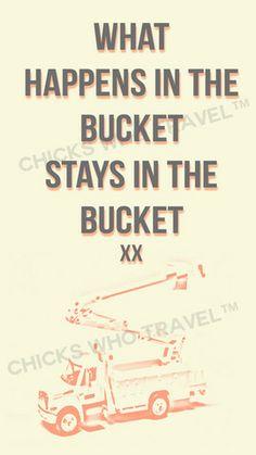 Bucket Ride – Chicks Who Travel™ Lineman's wife/girlfriend mobile background. www.chickswhotravel.com