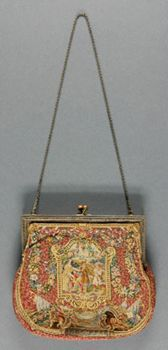 Woman's Bag    Made in Austria  c. 1920    Artist/maker unknown, Austrian    Needlepoint  5 x 5 1/2 inches (12.7 x 14.0 cm)