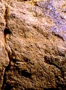 Sandstone petroglyph from archaeological site 33GU218 in Guernsey County, Ohio