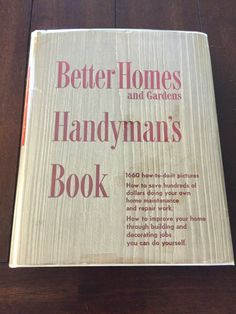 Better Homes and Gardens Handyman's Book 1951 by RandRVintageBooks