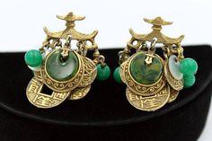 SOLD - ART Bakelite Pagoda Earrings