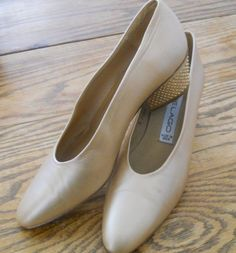 Annie Lago Bronze Metallics Leather Dress Studded Heels Pumps Shoes Sz 7 M Peach #AnnieLago.. found on eBay for just $20.00