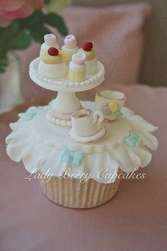 Afternoon Tea Cupcake www.ladyberrycupcakes.co.uk