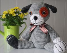 Amigurumi Patterns Free Crochet Pdf : Large mermaid doll stuffed toy cotton plush by thethistleandfig