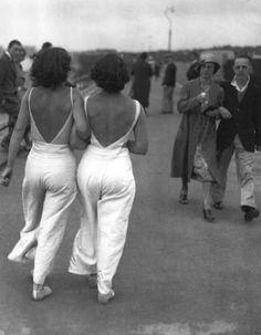 1930s beach pyjamas.