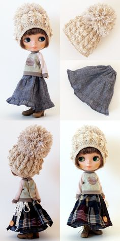 Tiny Dolls, New Dolls, Doll Dress Patterns, Clothing Patterns, Pretty Dolls, Cute Dolls, Blythe Dolls, Barbie Dolls, Kawaii Doll