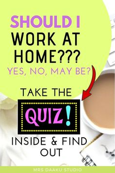 Are you thinking of working from home? If yes, read this post on should I work from home and take the quiz inside. Work From Home Options, Work From Home Jobs, Make Money From Home, Way To Make Money, Earn Extra Cash, Extra Money, Earn Money Online, Online Jobs, Career Quiz
