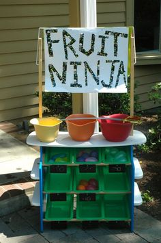 Fruit ninja game, jut because. Correct link here http://www.mom365.com/Preschool/Posts/2012/Jun/DIY-Fruit-Ninja-Live.aspx