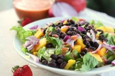 Mexi Mango Salad with Strawberry Chipotle Dressing Recipe